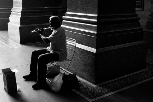 Flautist, City Hall